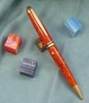 Media: Fire & Ice Acrylic Hardware: Brushed Gold Art Deco Shape: Cary Grant