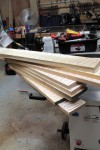 Drawer stock set to be face-jointed flat, then parallel-planed to final thickness.