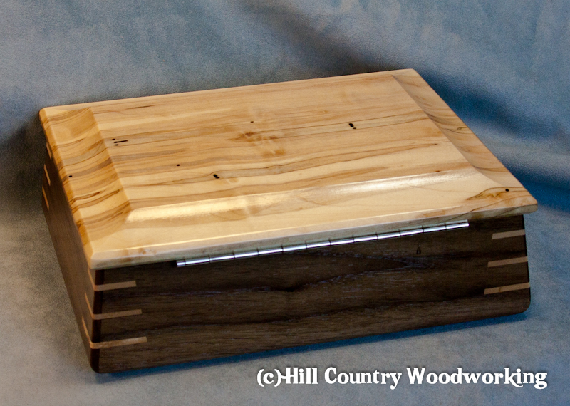 Spalted Maple topped boxes-1