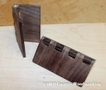 Finished 100% Walnut hinge with brace pin