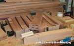 Mortise and loose tenons cut in the legs
